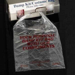Eco-Friendly Damp Kit Bags-clear