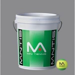 Mantis Mini Green Tennis Balls - 1 Bucket of 72 Balls
