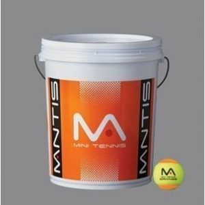 Mantis Mini Orange Tennis Balls - 1 Bucket of 72 Balls