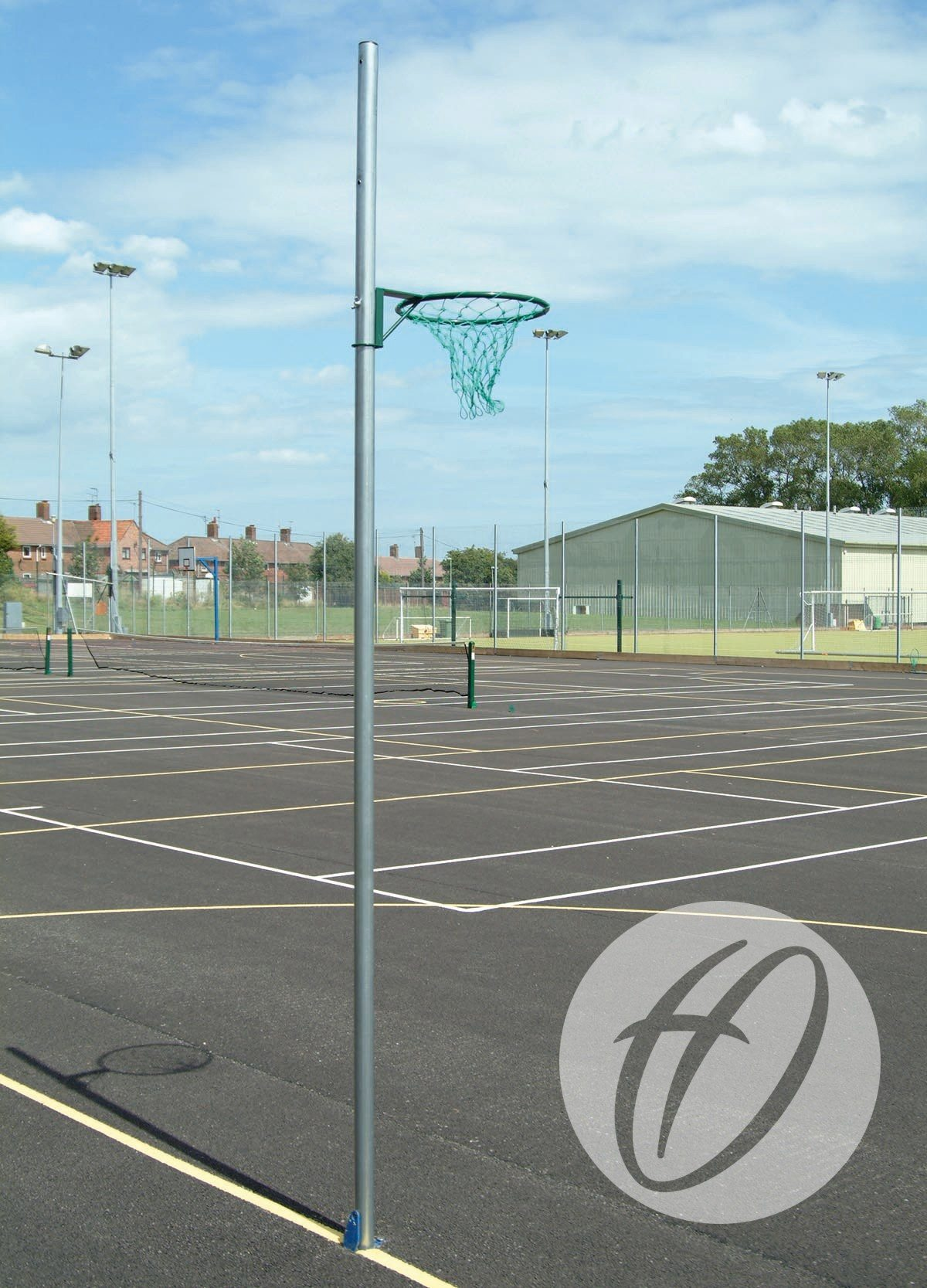 REGULATION NETBALL POSTS - SOCKETED, 16MM RING