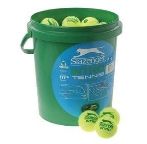 Slazenger Green Intro Tennis Balls, 60 Balls